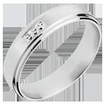 White Gold Hallmark Ring