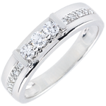White Gold Hérine Trilogy Ring - 18 carats