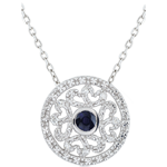 jewelry White Gold Kiona Pendant with diamonds and sapphires
