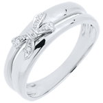 White Gold Knotted Eden Ring