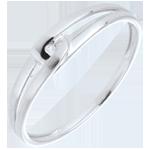 White Gold Modernity Ring