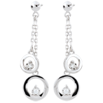 weddings White Gold Odalie Earrings