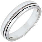 White Gold Olympia Wedding Band - Small Model - 18 carats