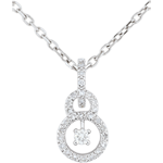 White Gold Scarlet Pendant - 31 diamonds