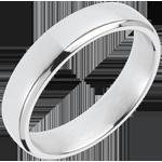 White Gold Squared Wedding Ring