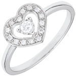 sell on line White Gold Tiphanie Heart Ring