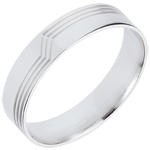 women White Gold Volte-Face Ring