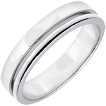 White Gold Wedding Band - Average Model