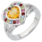 buy on line Wonder's Heart Ring - Silver, diamonds and fine stones