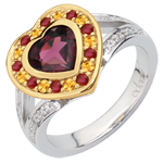 gifts women Wonder's Heart Ring - Silver, diamonds and fine stones