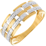 sales on line Woven ring white gold paved - 6diamonds
