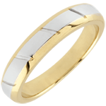gifts woman Yellow Gold and White Gold Magnus Wedding Band - 18 carats