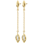 Yellow Gold Calisson Earrings