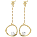 gift Yellow Gold Cosmo Earrings