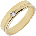 gift Yellow Gold Diamond Olympia Wedding Band - Average Model