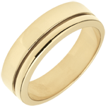 wedding Yellow Gold Diamond Olympia Wedding Band - Large Model - 18 carats
