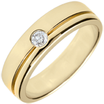 gifts women Yellow Gold Diamond Olympia Wedding Band - Large Model