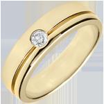 gold jewelry Yellow Gold Diamond Olympia Wedding Band - Large Model