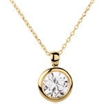 buy Yellow Gold Doll Solitaire Necklace