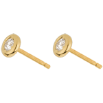 buy on line Yellow Gold Doll Solitaire Stud Earrings