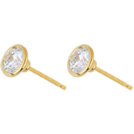buy Yellow Gold Doll Solitaire Stud Earrings