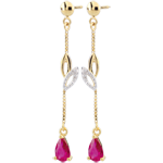 gold jewelry Yellow Gold Evina Sapphire Earrings
