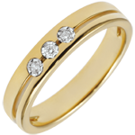 weddings Yellow Gold Olympia Trilogy Wedding Band - Small Model