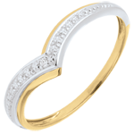 Yellow Gold Precious Wings Ring