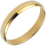 gift women Yellow Gold Pure Ring