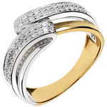 gift woman Yellow Gold Serenity Ring - 0.28 carats - 56 diamonds