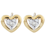 present Yellow Gold Small Heart Earrings