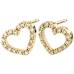 sell on line Yellow Gold Zadig Heart Earrings