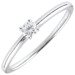 gift woman Yes Solitaire Ring - 0.1 carat