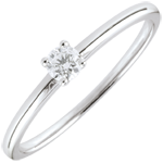 women Yes Solitaire Ring - 0.1 carat
