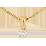 Zawieszka z diamentem z kółkiem z żółtego złota 18-karatowego - 0,11 karata