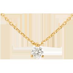 قلادة سوليتير من الذهب الأصفر 18 قيراط ـ 0.305 قيراط