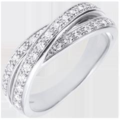 خاتم ساتورن الألماس ـ الذهب الأبيض 18 قيراط ـ 29 ماسة