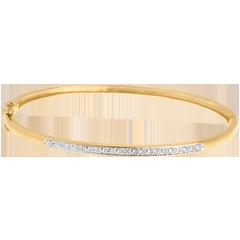 Bracciale rigido Diorama Barretta diamanti  - oro giallo - 11 diamanti
