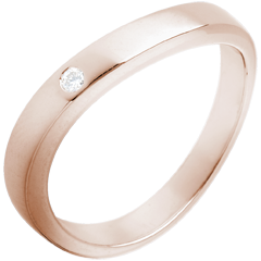 Trauring Roségold Diamant