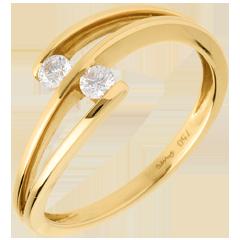 خاتم فيسكو أنت ـ أنا ـ من الذهب الأصفر 18 قيراط