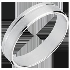 خاتم زواج برانس ـ ذهب أبيض عيار 18 قيراط