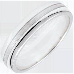 خاتم زواج ستار ـ نموذج صغير ـ ذهب أبيض 18 قيراط