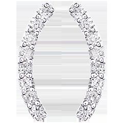 Orecchini - Equilibrio - oro bianco 18 carati e diamanti