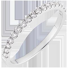 Obrączka Bettina - białe złoto 18-karatowe wysadzane diamentami