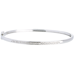 Bracelet Jonc or blanc Diorama barrette diamants  - 11 diamants