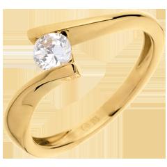 Solitario Nido Precioso - Bipolar- oro  blanco - diamante 0.31 quilates - 18 quilates