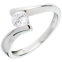 Solitaire apostrophe or blanc (TGM+) - 0.52 carats