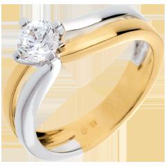 Solitario Solco oro giallo-oro bianco   - 0.52 carati