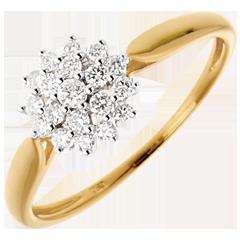 Bague Kaleidoscope - 19 diamants 0.26 carats - or blanc et or jaune 18 carats