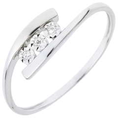 Anello Nido Prezioso - Trillusion - oro bianco - 18 carati